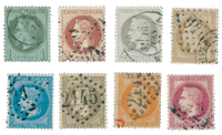 France 1863 - YT 25/32 - Cancelled