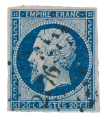 France 1853 - YT 14Aa - Cancelled