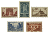 France 1929 - YT 258-62 - Unused