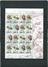 Snegle 2 miniark og 25 frimærker
