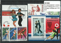Figure skating pairs 2 souvenir sheets, 2 sets and  25 stamps