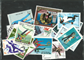 Cross country ski 3 miniark og 30 frimærker