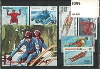 Toboggan 1 souvenir sheet and 17 stamps