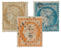 France 1870 - YT 36-38 - Cancelled