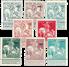 Belgien 1911 - OBP 92-99 - Ubrugt