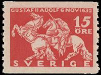Sweden 1932 - Facit no. 235a - King GUstaf II the death of Adloph at Lützen
