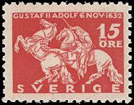Sverige Facit 235c 1932 Kong Gustaf II Adolfs død v/Lützen