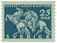 Sweden 1932 - Facit no. 236 King GUstaf II the death of Adolph at Lützen