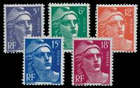 Frankrig 1951 - YT 883-87 - Ubrugt