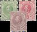 Curacao - drie klassieke zegels van Curacao (nr. 1+3+9, ongebruikt)