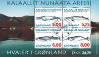 Greenland 1997 - Whales in Greenland - Souvenirsheet
