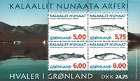 Groenland - 1997 Walvissen souvenir velletje