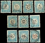 Netherlands 1881 - NVPH P3-P12 - Cancelled