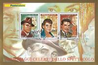 Italia - Personalities - Cancelled souvenir sheet