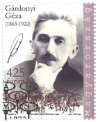 Ungarn - Geza Gardonyi - Stemplet frimærke