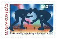 Hungary - World championship wrestling - Mint stamp
