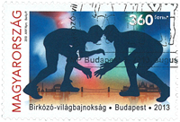 Hungary - World Championshop Wrestling - Cancelled stamp