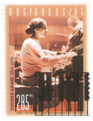 Hungary - Pianist Annie Fischer - Cancelled stamp