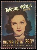 Ungarn - Skuespillerinden Klari Tolnay - Stemplet frimærke