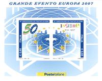 Italien - Romtraktaten - Postfrisk miniark