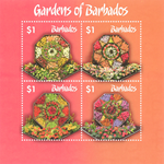 Barbados - Haver - Postfrisk miniark