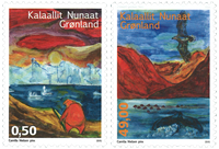 Grønland - Grønlandske sange - Postfrisk sæt 2v