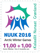 Greenland - Arctic Winter Games - Mint stamp