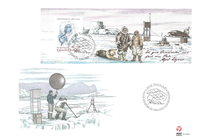 Greenland - Alfred Wegener expeditions IV - FDC souvenir sheet