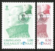 Grønland - Dagligmærke omtryk - Maximumskort