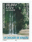 Mayotte - Waterfall Soulou - Mint stamp