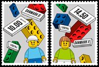 Danmark - Europa 2015 Lego - Postfrisk sæt 10-striber