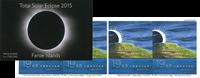 The Faroe Islands - Solar eclipse - Mint self adhesive booklet 19 kr.