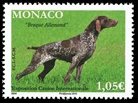 Monaco - Dog exhibition 2015 - Mint stamp