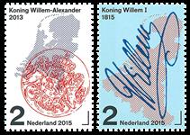 Holland - 200 års kongedømme - Postfrisk sæt 2v