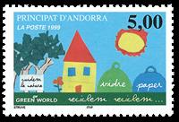 Fransk Andorra 1999 - Recyclons