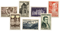 France 1952 - Selection of stamps - Mint