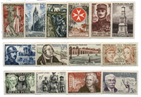 France 1956 - Selection of mint stamps