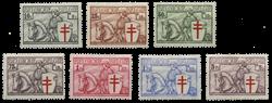 Belgien 1934 - OBP 394-400 - Ubrugt
