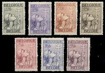 Belgien 1933 - OBP 377-83 - Ubrugt