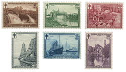 Belgien 1929 - OBP 293-98 - Ubrugt