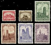 Belgien 1928 - OBP 267-72 - Ubrugt