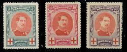 Belgien  - OBP 132-34 - Ubrugt