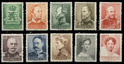 Luxembourg - 100 års uafhængighed 1939 -Postfrisk (Mi. 321-30)
