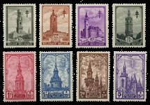 Belgien 1939 - OBP 519-26 - Ubrugt