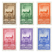 Luxembourg - FIP Congress in 1936 - Unused (Mi. 290-295)