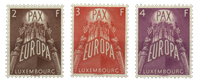 Luxembourg - Europe 1957 - Unused (Mi. 572/74)