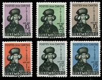 Luxembourg - Sigismund of Luxembourg 1938 - Unused  (Mi. 315-20)