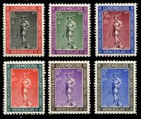 Luxembourg - Child Welfare 1937 complete series - Unused (Mi. 303-08)