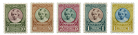 Luxembourg - Princess Mary Adelaide, 1928 - Mint (Mi. 208-12)