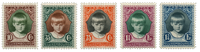 Luxembourg - Princess Marie Gabrielle, 1929 - Mint  (Mi. 213-17)